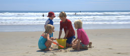 A family enjoying a Cape Cod beach vacation